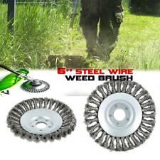 6'' Solid Steel Wire Wheel Garden Weed Brush Lawn Mower Head Trimmer Accessories