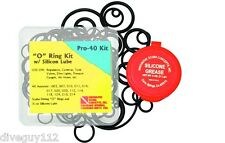 O-Ring Kit w/ Silicone Grease 40 Piece Repair Spare Replacement Scuba Diving