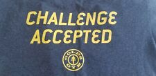 Golds Gym Challenge Accepted T Shirt Grey Workout HIMYM Fitness Muscle Weight