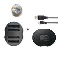 Li-50B .D-LI92 Battery DUAL USB Charger for Olympus Mju 1020 1010 Pentax X70