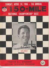 1966 Mario Andretti signed Trenton Indy Car Event Program