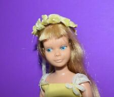 Vintage 1963 Barbie Doll Skipper Blond with Yellow Flower Girl Dress Set #1904