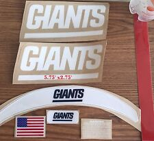 "Giants Helmet Side DecalsTB 1980-1999   (5.75"" x 2.75"" )"