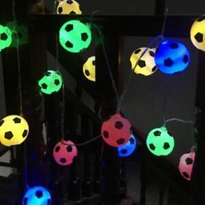 20/10LED Football Fairy String Light Boy Battery Bedroom Lamp R9B6 Decor Z9T8