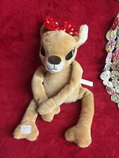Vtg Clarice Huggie Toy Rudolph the Red Nose Reindeer Hugs Around Soft Toy