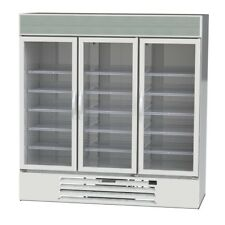 Beverage-Air Mmr72Hc-1-W 72 CuFt MarketMax White Three-Door Reach-In Cooler