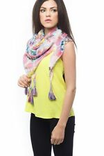 Scarf Spring Shawl New Summer Style Flower Print Square Scarf With Tassles