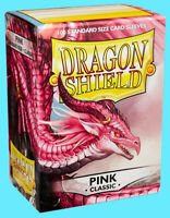 100 DRAGON SHIELD CLASSIC Standard Size PINK Card Sleeves deck protector mtg ccg