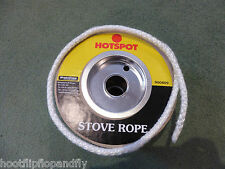 1 METRE STOVE ROPE HOTSPOT 6mm DIAMETER GLASS FIBRE SEAL FIRE HEATING WOOD BURN