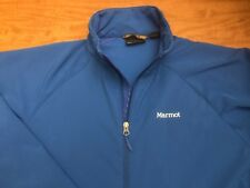 Marmot Soft Shell Jacket Blue Men's XL Coat Athletic Stretch Light Jacket