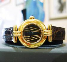 Ladies CARTIER Must De Cartier Vermeil Gold Sterling Silver Round Watch