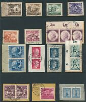 Lot Stamp Germany WWII 3rd Reich Hitler Wehrmacht Mozart Paper Knight CTO Used