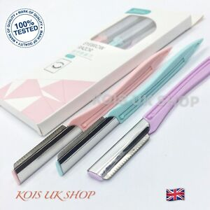 Professional Eyebrow Razor Shaper Trimmer Smooth Painless Stainless Steel Blades