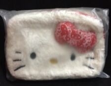Hello Kitty Makeup Cosmetic Pouch Faux Lambskin Sheepskin New NWT