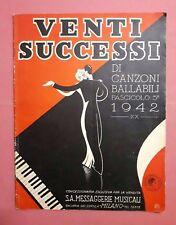 Spartiti - Venti successi di canzoni ballabili - Fascicolo 5° - 1942