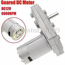 DC12V 6000RPM  Metal Gear Motor 5RPM Square Electric Drive Motors High Torque