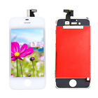 A+ For iPhone 4 GSM LCD Display Touch Screen Glass Sensor Digitizer White Frame