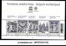 BELGIUM - 2009 WORLD HERITAGE SITE SG#MS4243 MIN/SHT MNH