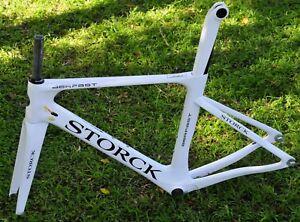 New White Carbon Road Storck Aerfast Frame Set Size L 2018 Model