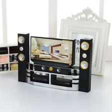Miniature Television Cabinet Furniture Set Model for Doll House Accessories