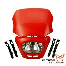Red Off Road Dirt Bike Enduro MX Motorcycle Headlight Fairing For Honda CRF XR