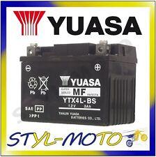 YTX4L-BS BATTERIA ORIGINALE YUASA CON ACIDO DERBI DRD 50R SENDA RACING 2007