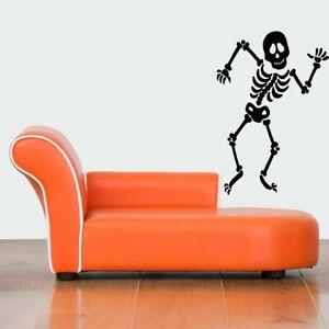 Gift Wall Vinyl Sticker Decals Mural Design Cute Funny Skeleton Man Grim #380