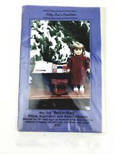 Kitty Lou's Creation Pattern 20 Doll Bed in Bag Pillow Nightshirt Slippers Uncut