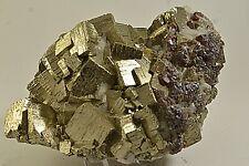 Amas de Cubes de Pyrite du Perou 1,2kg  specimen minerale de Collection