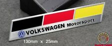 VOLKSWAGEN MOTORSPORT BADGE EMBLEM - fits 111 VW GOLF GTI VR6 R32 MK 2 3 4 5 TDI
