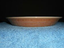 "Vintage FIRE KING PIE PLATE 9"" ANCHOR HOCKING GLASS Pie Dish Peach Luster 1940's"