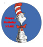 Cat in the Hat personalised edible Image cake topper real icing sheet 19cm #175