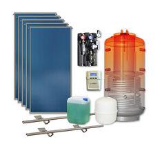 Thermische Solaranlage 5 Kollektoren 500 l Kombispeicher Solarpaket Komplett