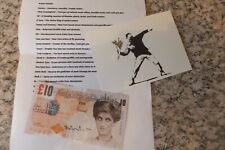 "Signed Banksy tenner note & collection direct from ""Exit through the gift shop"""