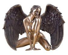 Weiblicher Akt Einklang Frau stützt sich auf Boden bronziert  Figur Skulptur