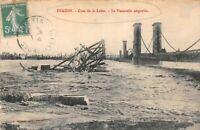 DIGOIN - crue de la Loire - la passerelle emportée