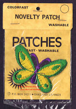 Lmh Patch Badge Butterfly Butterflys Wings Green Yellow Purple 3'