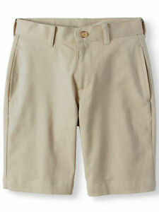 Wonder Nation Boys School Uniform Super Soft Flat Front Shorts Sz 16