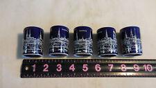 5 Miniature Blue Shotglasses Hamburg  dp Orzella