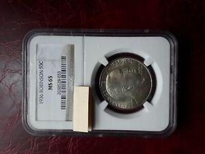 USA 1936 ROBINSON half dollar silver coin,MS65,NGC certificate