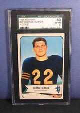 George Blanda SGC 6 1954 Bowman #23 Rookie RC Card (EX-NM) Chicago Bears