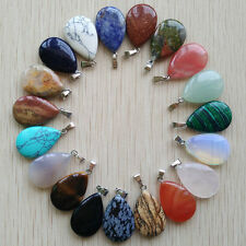 Wholesale 50pcs/lot Assorted Natural Stone mixed Water Drop Charms Pendants