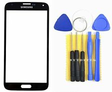 Black Replacement Front Screen Glass Lens for Samsung Galaxy SM-G900 S5 SV i9600