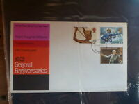 GREAT BRITAIN 1973 GENERAL ANNIVERSARIES SET 3 STAMPS FDC FIRST DAY COVER