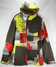 686 Mannual Thermal 7 Snowboard Jacket Ski Snow Brown Red Waterproof Men Size XS