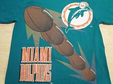 vintage 90s Miami Dolphins All-Over 2-Sided T-Shirt Medium football nfl florida