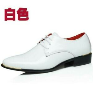 Fashion Mens Formal Lace up Wedding Dress Outdoor Oxfords Shoes Patent Leather D