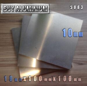 10mm Aluminium Plates / Sheets 100mm x 100mm - 5083