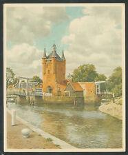 """Verkade's Album """"Onze Groote Rivieren"""" 9. Zuidhavenpoort, Zierikzee"""