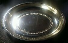 Antique Silver Oval Bread Tray